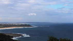 Timelapse view over the ocean from crackneck lookout stock footage
