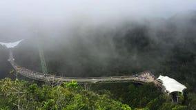 Timelapse view of sky bridge from the hihgest peak in Langkawi stock footage