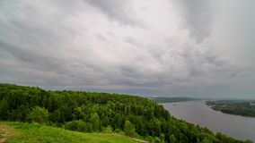 Timelapse view of stormy clouds running fast. stock video footage