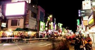 Timelapse View Of Taipei Shilin Night Market. 4K stock video