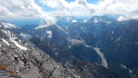 Timelapse of a view from the top of hocheck watzmann stock footage