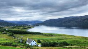 A timelapse view of the town of Ullapool, Scotland stock video