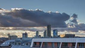 Timelapse of Vilnius city landscape. Timelapse video of Vilnius city landscape stock footage