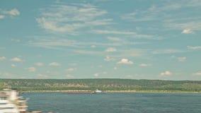 Timelapse - vista de navio de cruzeiros movente video estoque