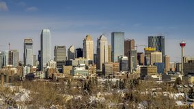 Timelapse von Calgary-` s Skylinen stock video