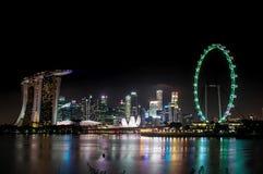 2017 01 01 Timelapse von Singapur-Skylinen genommen vom Garten durch den Bucht-Südeingang stock footage