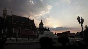 Timelapse-Vorrat-Videoaufnahmen 1920x1080 1080p hdv Wat Ratchanatdaram Religion Hdv Bangkok stock footage