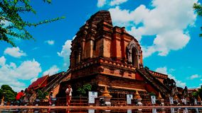 Timelapse at Wat Chedi Luang in Chiang Mai , Thailand. stock video