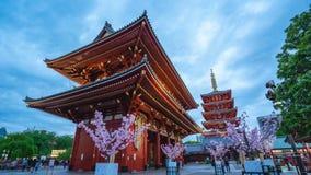 Timelapse wideo ludzie jest podróżny przy Sensoji świątynią w Tokio, Japonia, timelapse 4K zbiory