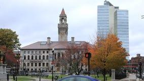 Timelapse Worcester urząd miasta w Massachusetts 4K zdjęcie wideo