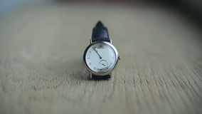 Timelapse of wristwatch stock video footage
