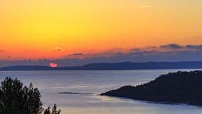 Timelapse wschód słońca w Cote d ` Azur zbiory