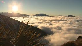Timelapse zmierzch Nowa Zelandia Ouhu chmurnieje słońce zbiory