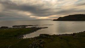 TIMELAPSE zmierzchu oceanu wybrzeże SZKOCJA 4K zdjęcie wideo