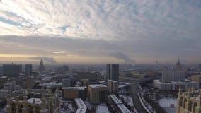 Timelapse zwykły typ Moskwa w Stycznia dniu zbiory wideo