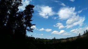 Timelapseklem Wolken die over de hemel vliegen en hun vormen veranderen stock footage