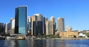 Timelapsemening de stadscentrum 4K van van Sydney, Australië stock videobeelden