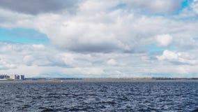 Timelapsemening van rollinwolken in onweer stock footage