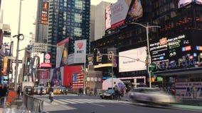 Timelapsemening van Times Square in Uit het stadscentrum Manhattan stock videobeelden