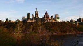 timelapsesikt för 4K UltraHD A av Kanada parlament på en kulle stock video