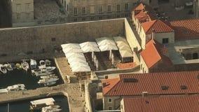 Timelapsespruit van oude de stadshaven van Dubrovnik stock videobeelden