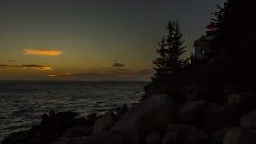 Timelapsevideo van een zonsondergang stock video