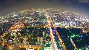 Timelapsevideo van Osaka in Japan, luchtmening stock footage