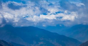 Timelaspe shot of cloud waterfall in Western Sichuan, Sichuan, China stock footage