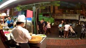 Timeleaps улицы Bankok, ночная жизнь города видеоматериал