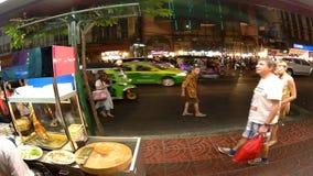 Timeleaps da rua de Bankok, vida noturno da cidade video estoque