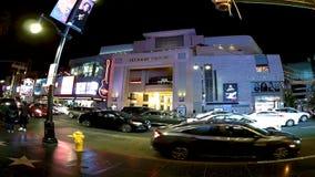 Timeleaps de Los Ángeles en el bld de Hollywood almacen de metraje de vídeo