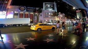 Timeleaps de Los Ángeles en el bld de Holyiwood metrajes