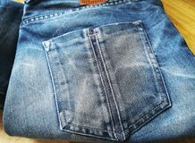 The timeless jeans. Detail of jeans pocket royalty free stock photos