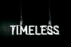 Timeless neon sign Royalty Free Stock Photo