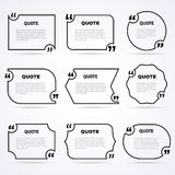 Timeless wisdom quotes outlined icons set Stock Photography