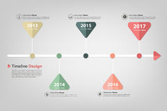 Timeline arrow dot with business icon vector illustration