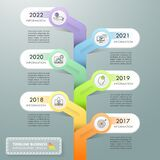 Timeline business concept infographic template, can be used for workflow layout, diagram, number options, timeline or milestones