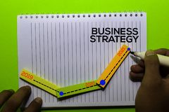 Timeline Business Strategy 2019 - 2020 - 2021 Years on Book. Isolated on office desk background
