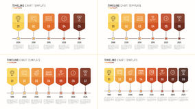 Timeline chart infographic template for data visualization. 8 st Stock Images