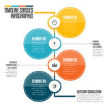 Timeline Circles Infographic Stock Photography