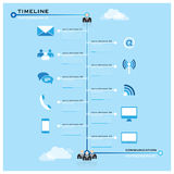 Timeline Communication Business Infographic Stock Photos