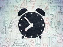 Timeline concept: Alarm Clock on Digital Paper Royalty Free Stock Image