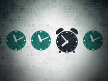 Free Timeline Concept: Alarm Clock Icon On Digital Stock Images - 55728244