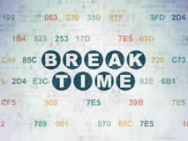 Timeline concept: Break Time on Digital Data Paper background Royalty Free Stock Photo