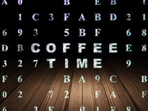 Timeline concept: Coffee Time in grunge dark room Royalty Free Stock Photo