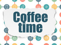 Timeline concept: Coffee Time on Torn Paper Royalty Free Stock Image