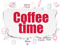 Timeline concept: Coffee Time on Torn Paper Royalty Free Stock Photo