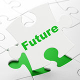 Timeline concept: Future on puzzle background Royalty Free Stock Images