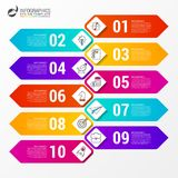 Timeline concept. Infographic design template with 10 steps. Vector illustration Royalty Free Illustration