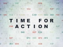 Timeline concept: Time for Action on Digital Data Paper background Royalty Free Stock Images